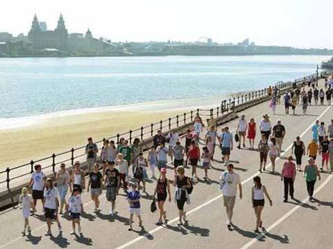 Participants in last year's Wirral Coastal Walk
