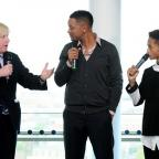 Will Smith and son Jaden joined London Mayor, Boris Johnson, to celebrate the achievements of his Leadership Clubs