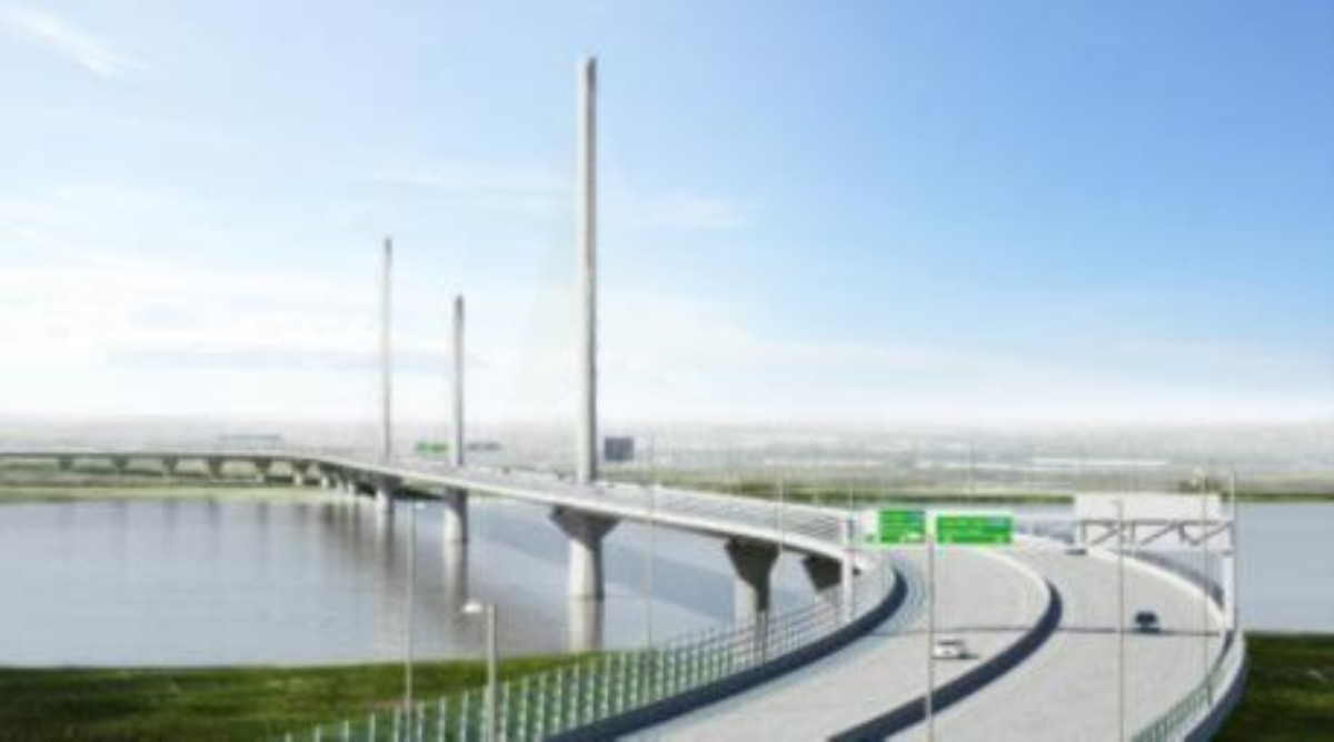 Artist's impression of Mersey Gateway