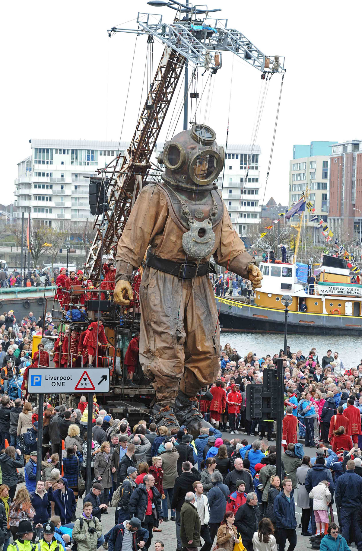 The giants wow the crowds in 2012. Picture: Paul Heaps