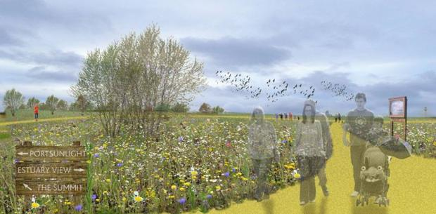 Artist's impression of Port Sunlight River Park