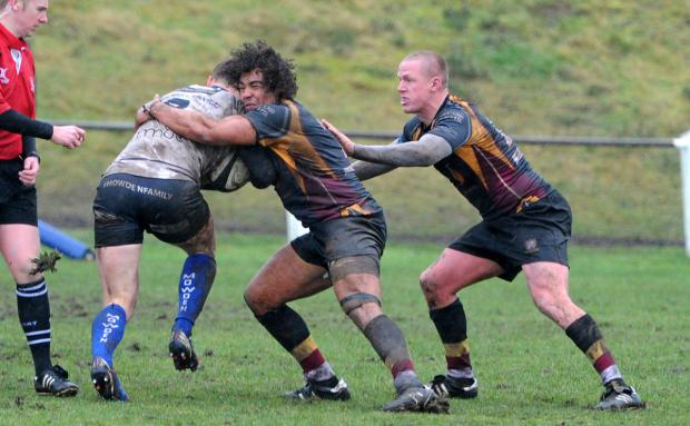 Caldy in action against Darlington Mowden Park at the weekend. Picture: Paul Heaps