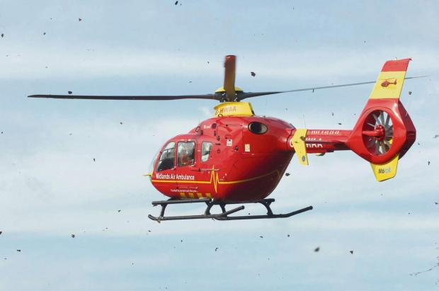 Rubber-neckers prevented air ambulance landing to take seriously injured child to hospital