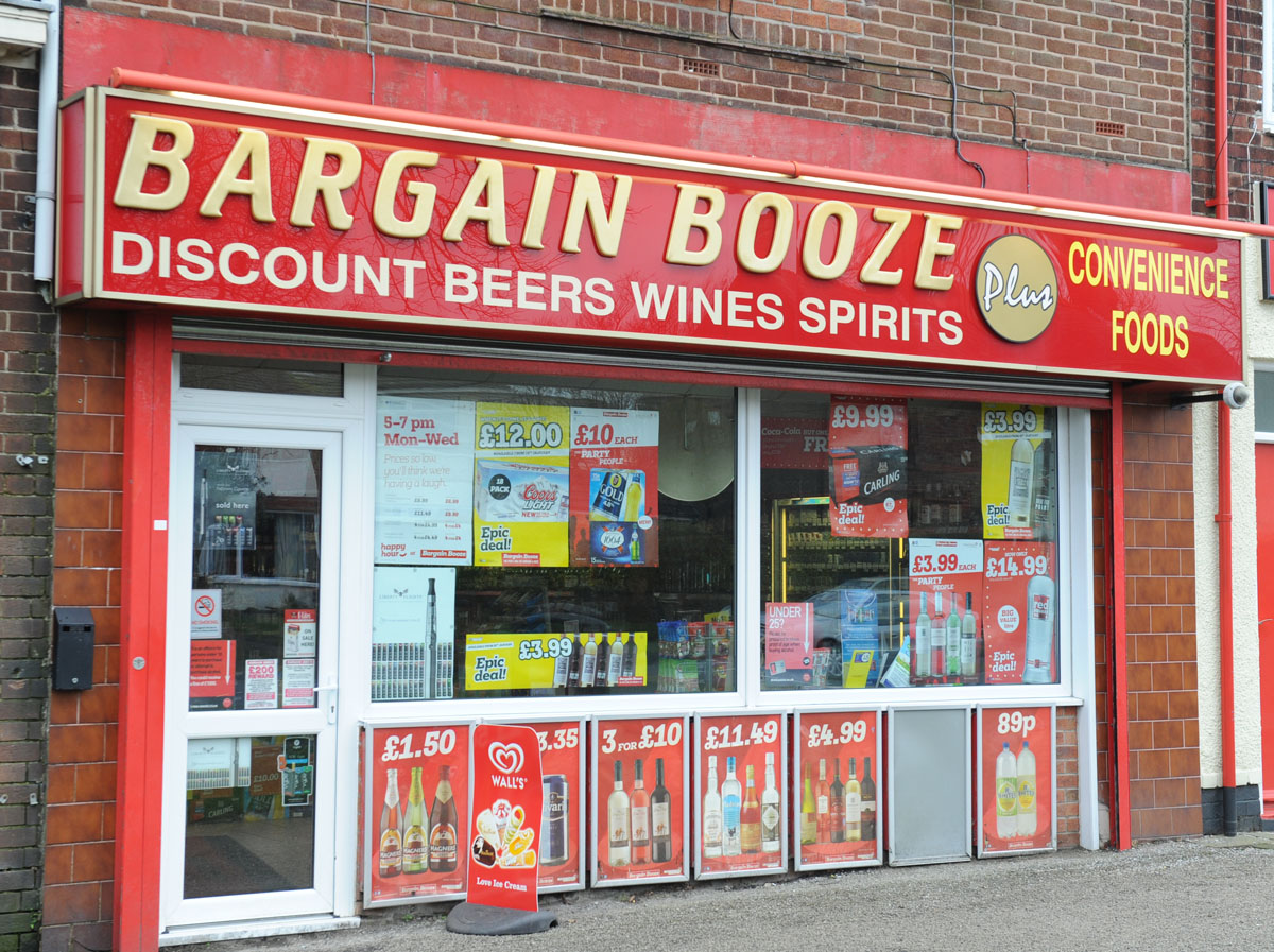Bargain Booze on Pensby Road.