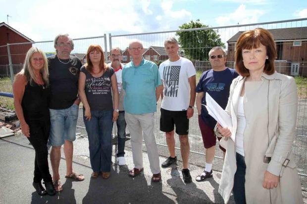 FLASHBACK: Cllr Leah Fraser with protestors at the site in July. Picture: Stuart Bogg Imaging