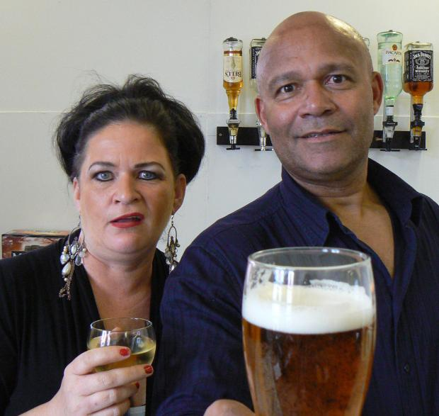Wirral Globe: Lynne Fitzgerald and Louis Emerick form the cast of Two.