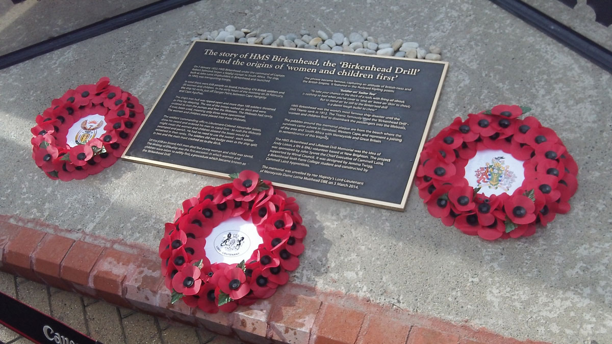 VIDEO: Wirral mayor unveils tribute to HMS Birkenhead