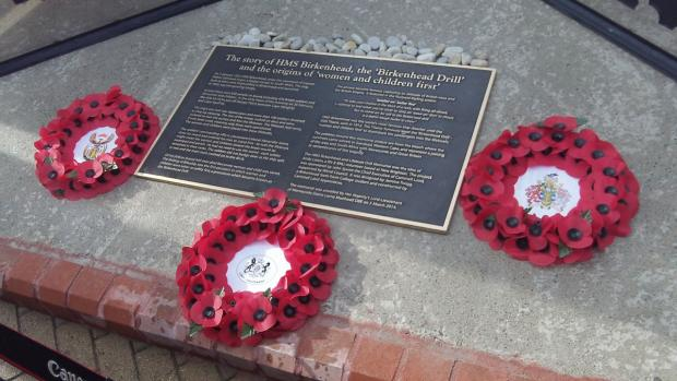 Wirral Globe: The plaque following today's unveiling.