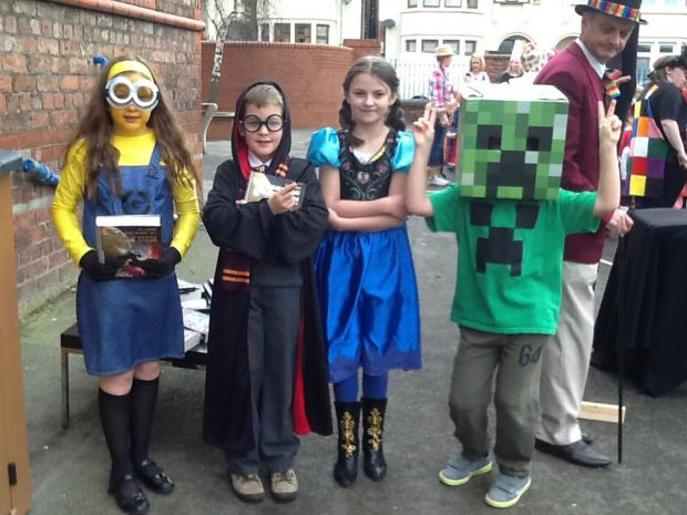 Wirral Globe: New Brighton Primary pupils dress up for World Book Day