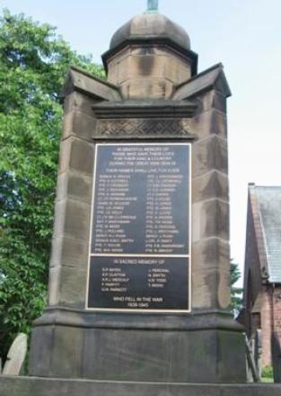 Willaston's war memorial.