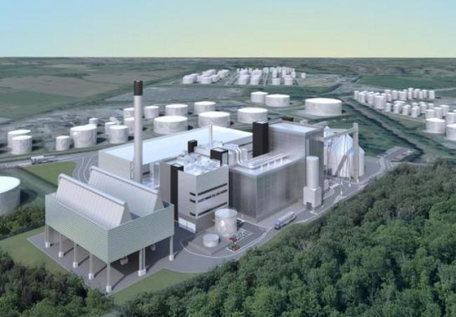 Artist impression of the new plant