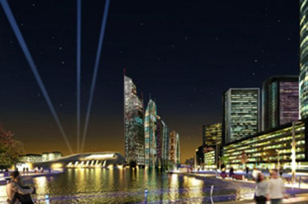 Wirral Globe: Artist's impression of the Wirral Waters' development