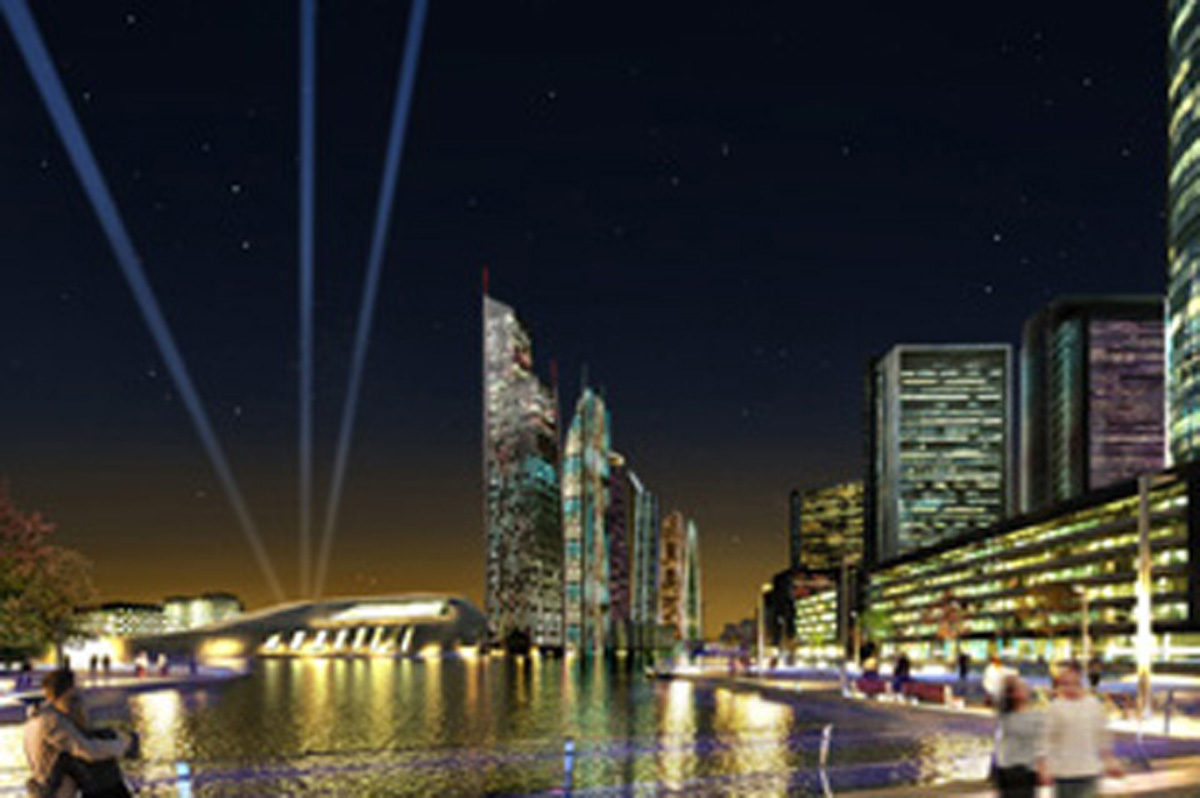 Artist's impression of the Wirral Waters' development