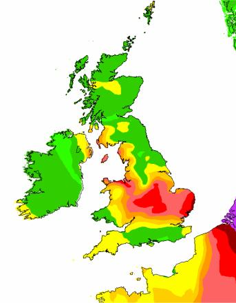 Defra's weather forecast for tomorrow shows Wirral is expected to see high levels of air pollution.