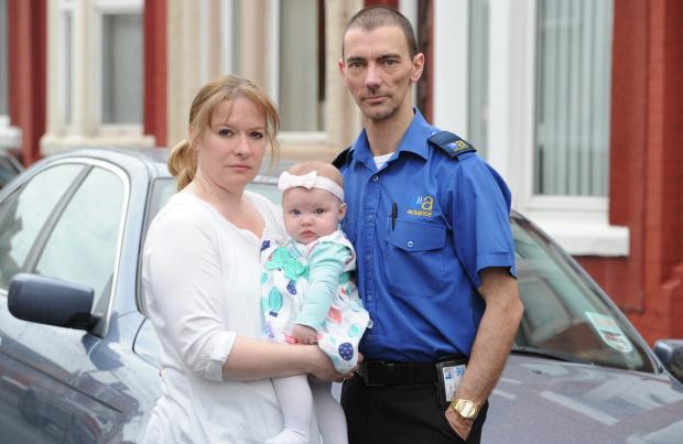 Sharron and Adrian Stott, with their daughter Mia, are