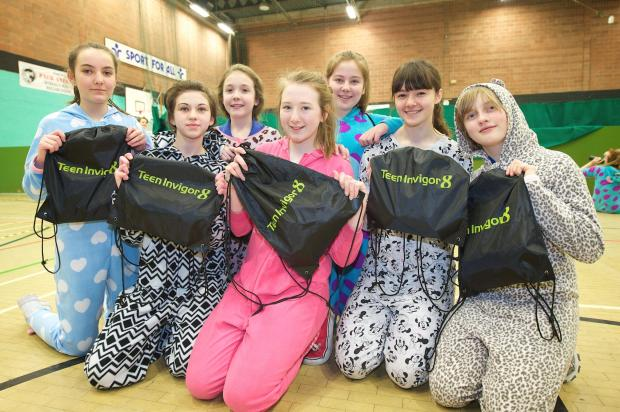 Wirral Globe: Onesie work-out proves a big hit with Wirral teens