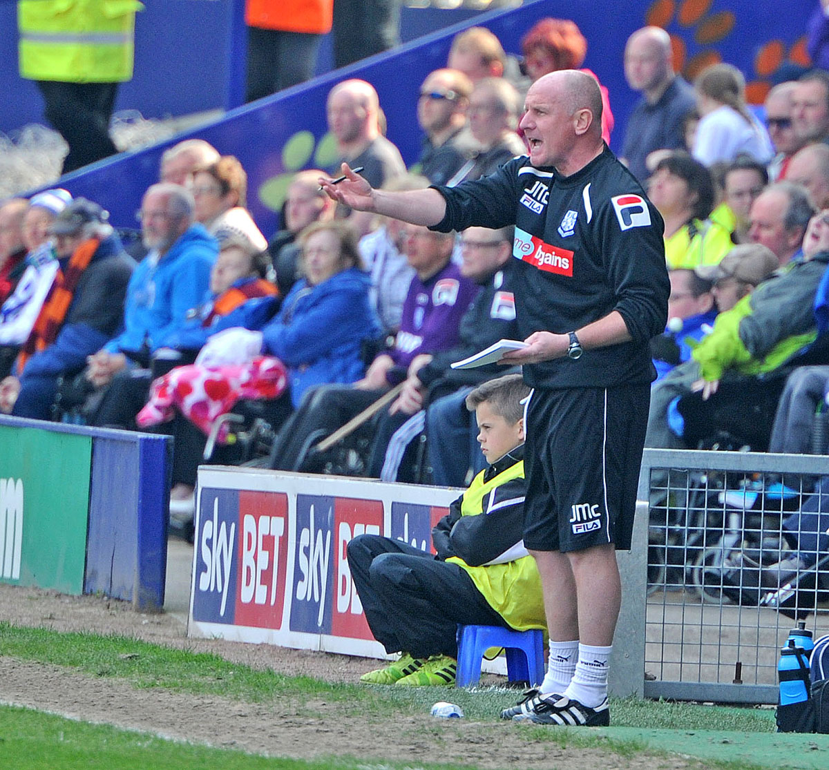John McMahon gives instructions from the touchline during Tranmere's recent home game against Sheffield United. Picture: Paul Heaps