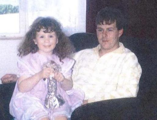 Wirral Globe: James Robert Hennessy with his daughter Charlotte.