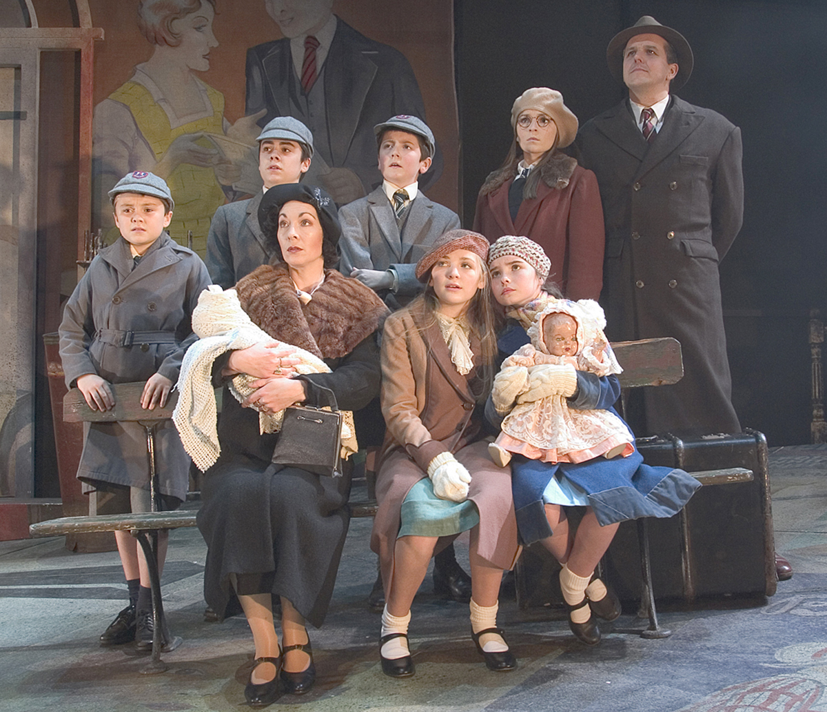 Production shot of Tuppence To Cross The Mersey cast from 2005