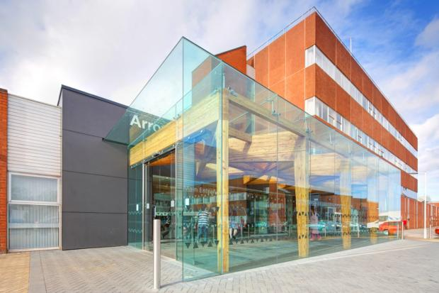 Wirral Globe: Arrowe Park Hospital's award-winning new front entrance