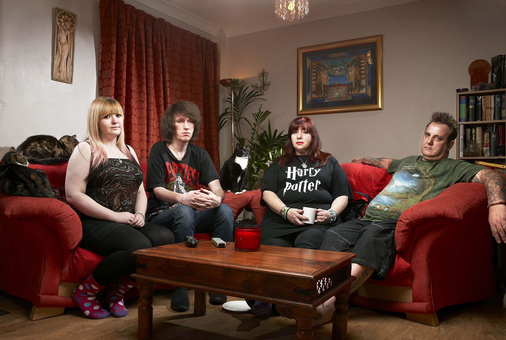 Wirral's Gogglebox family: Eve, Jay, Viv and Ralf Woerdenweber.