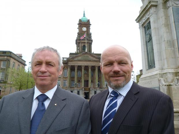 Wirral Globe: Primarius Ltd owners Peter Bray and Harry Glover.