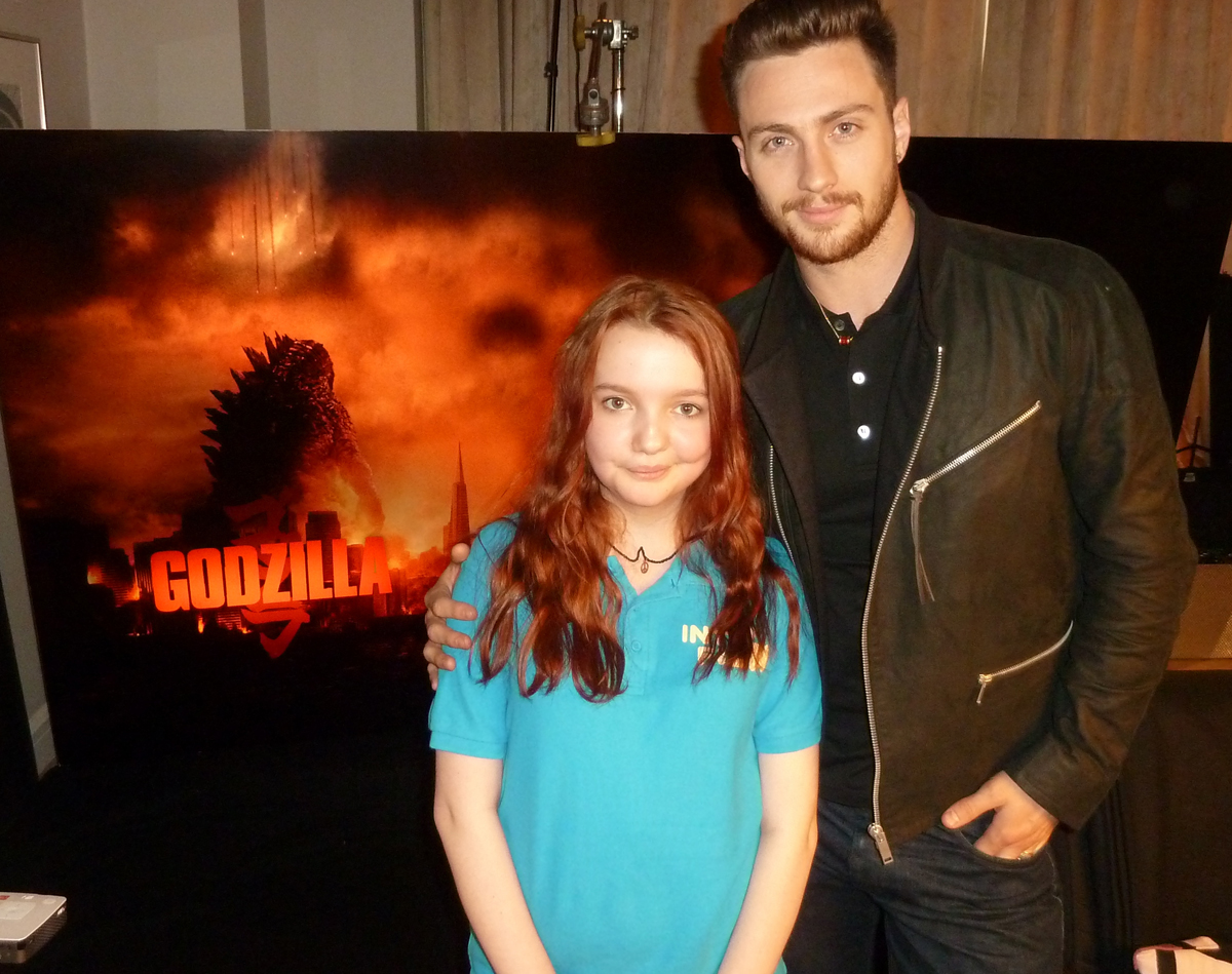 Catherine Hampton meets Godzilla star Aaron Taylor Johnson