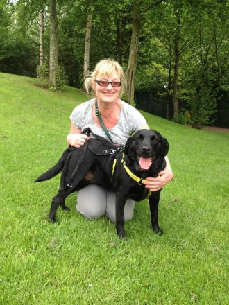 Judy and her owner Gaynor Brundell, from Heswall.