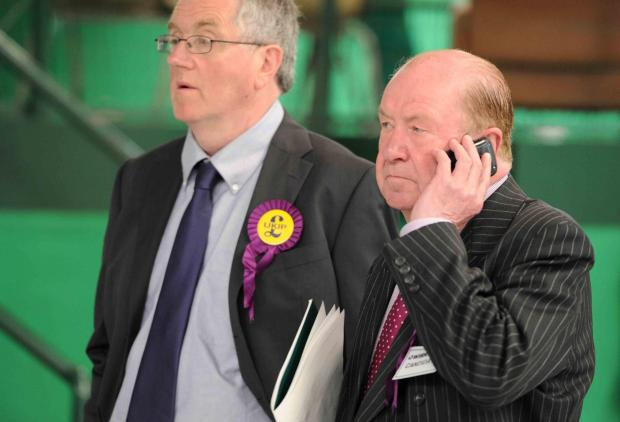 UKIP's Phil Griffiths phones in the local election results.