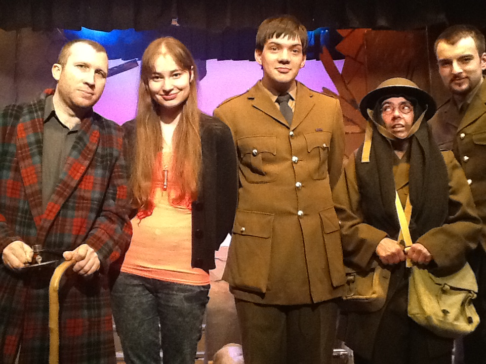 The cast of Claremount Players' production of Blackadder Goes Forth