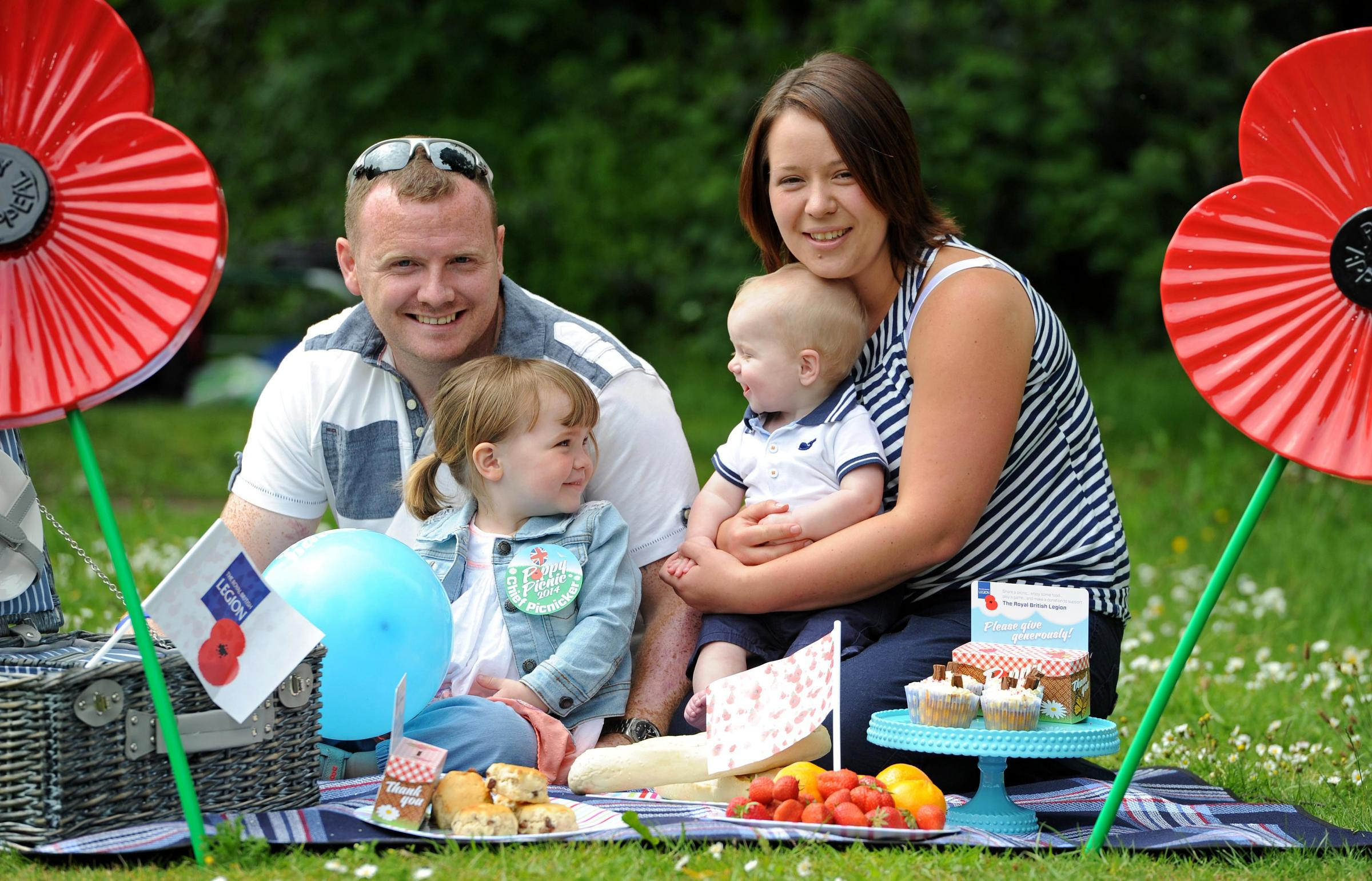 Pete, Ava, Laura and Noah launch this year's appeal. Picture: Paul Heaps