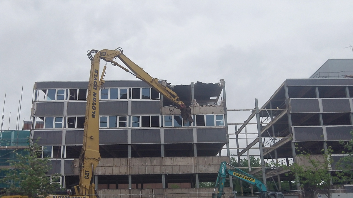 VIDEO: Crown building demolished to make way for new hotel in Birkenhead