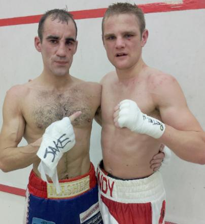 Sean 'Masher' Dodd and Andy Townend after the bout
