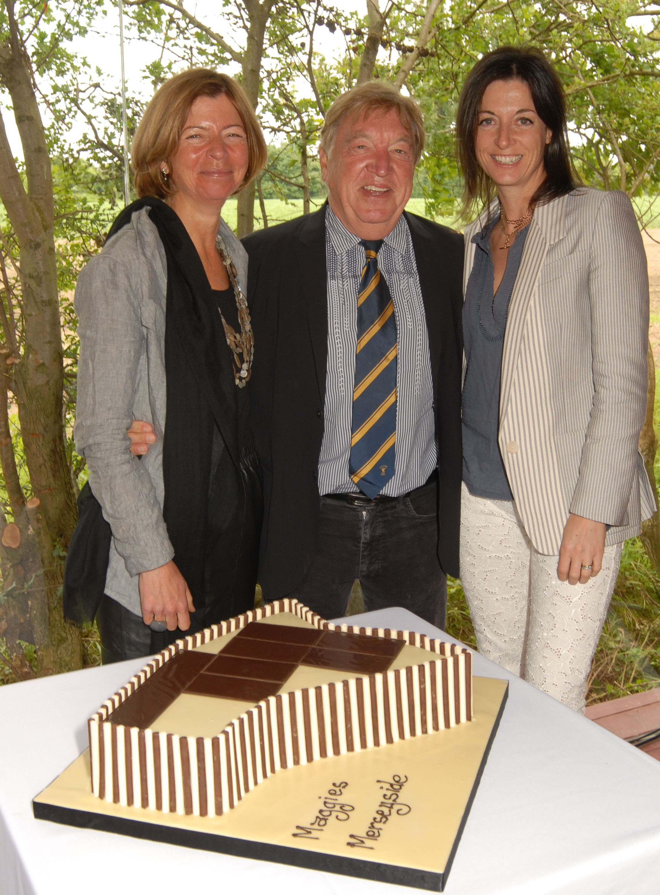 Laura Lee, George Davies and Mary McCartney at the opening of Maggie's Merseyside at Clatterbridge.