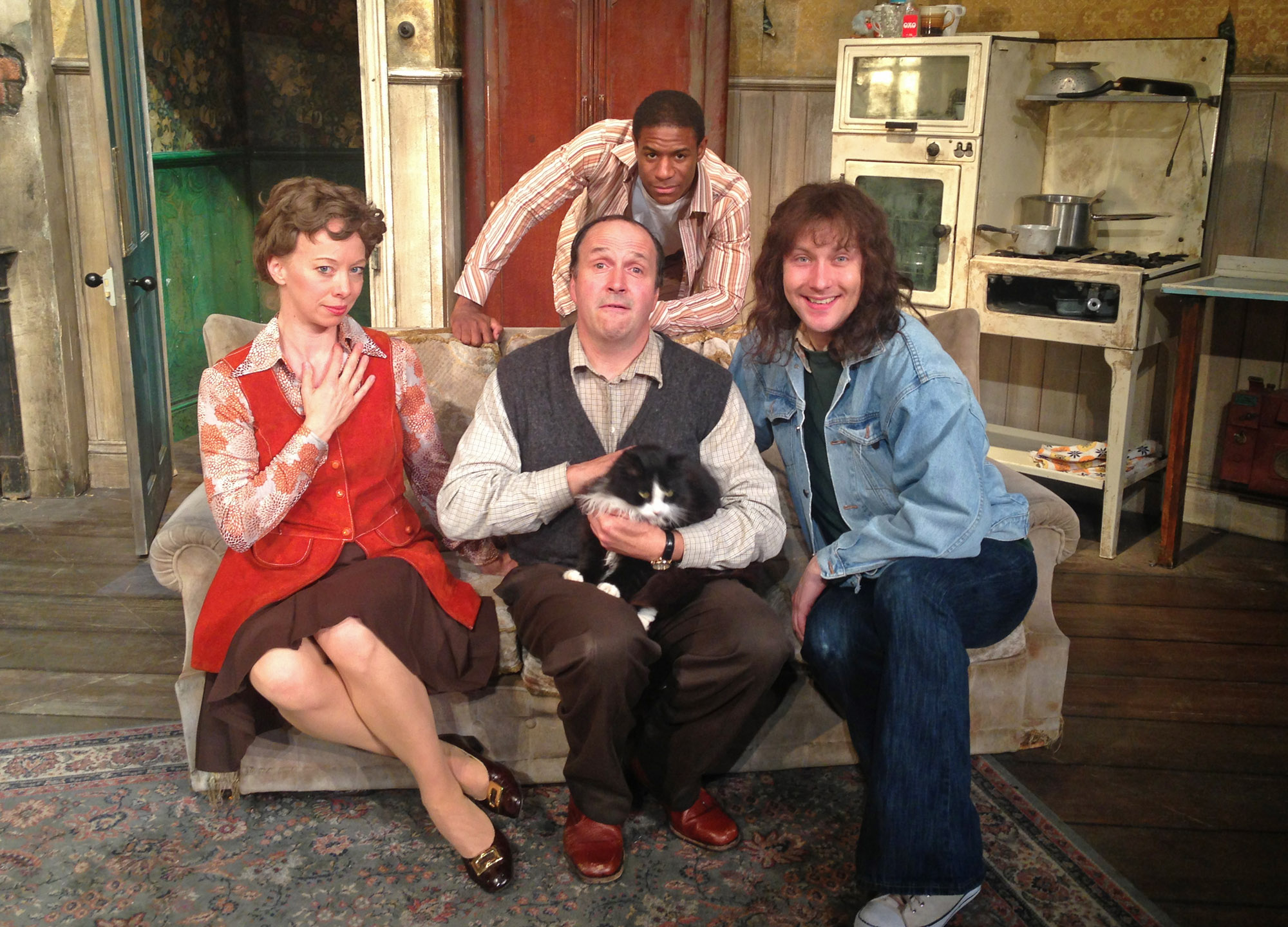 Cast of stage version of Rising Damp