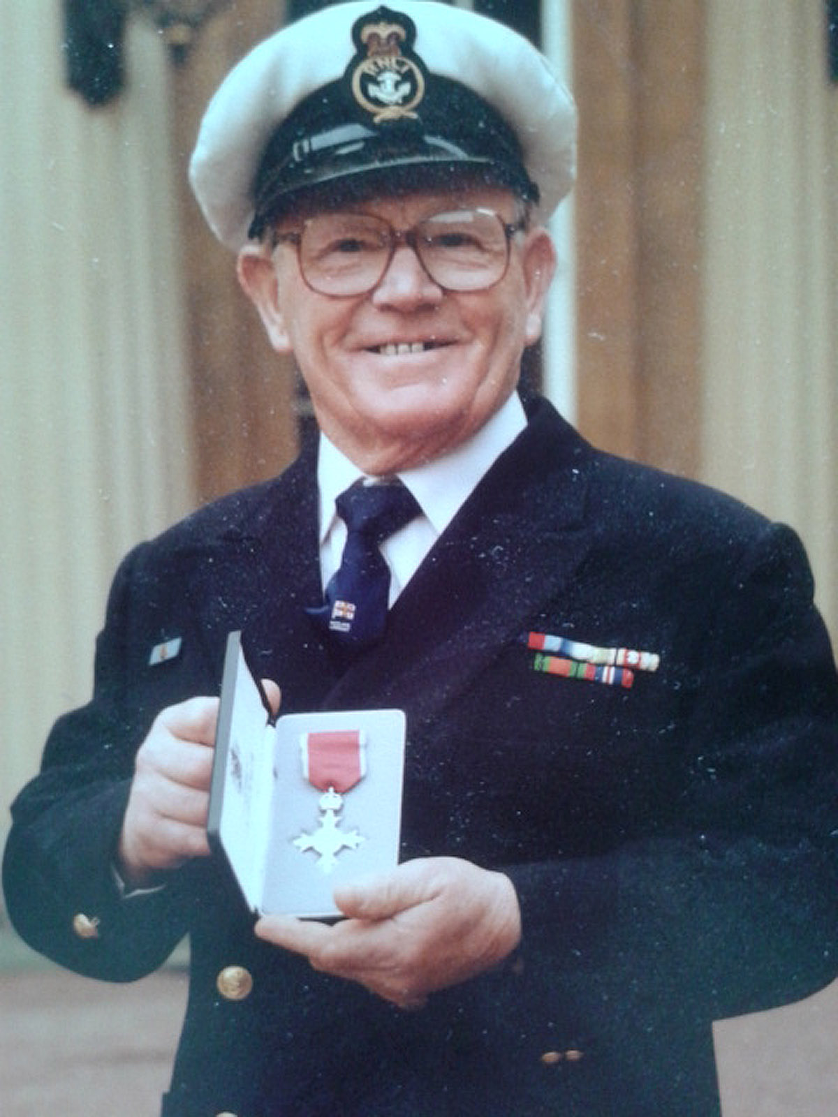 Thomas Henry Jones with his MBE