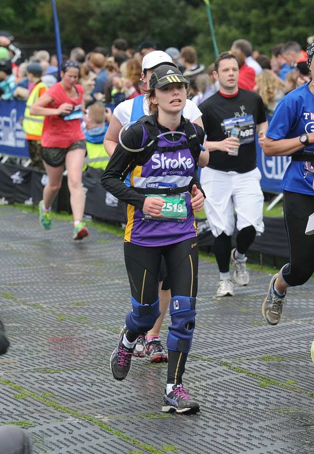 Chloe Thompson during the Edinburgh Marathon.