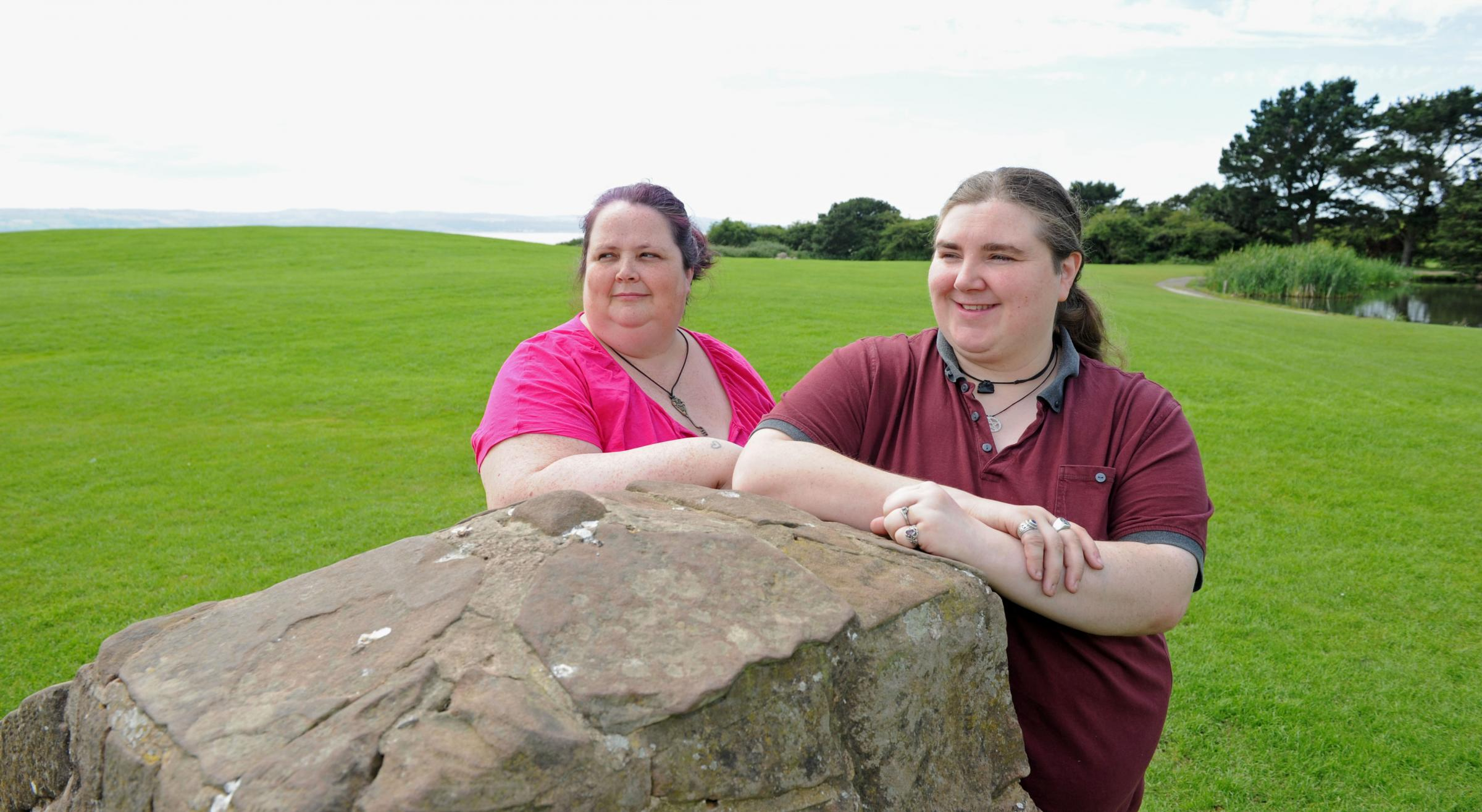 Sarah Murphy and Mel Carlile who are holding a Pagan summer solstice fair on Saturday.