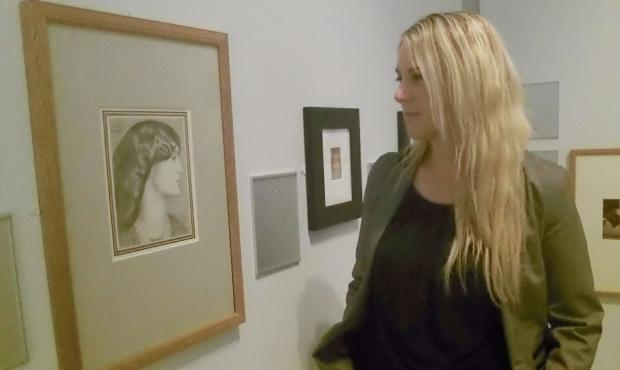 Wirral Globe: Jill Iredale from Bradford Museums and Galleries looks at one of the exhibits today.