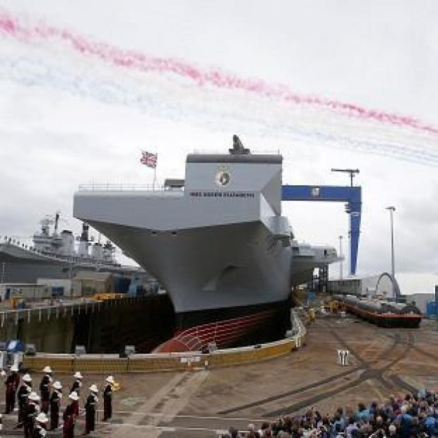 Wirral Globe: Queen Elizabeth super carrier is launched