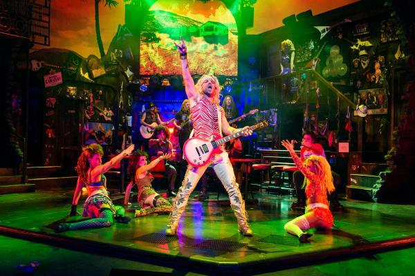Ben Richards stars as Stacee Jaxx in Rock of Ages The Musical. Credit Manuel Harlan.