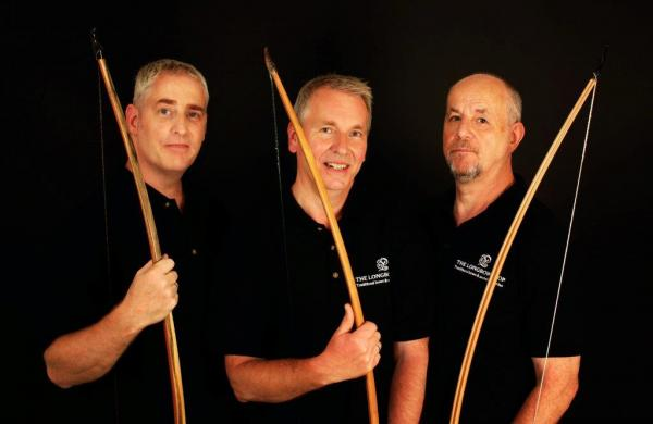Jason Powell, Graham Higgs and Mike O'Sullivan of The Longbow Shop and Longbow Events