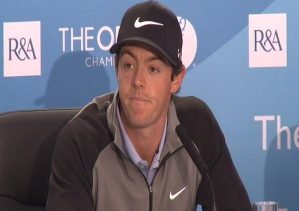 Rory McIlroy says he hopes to lift the Claret Jug one day.