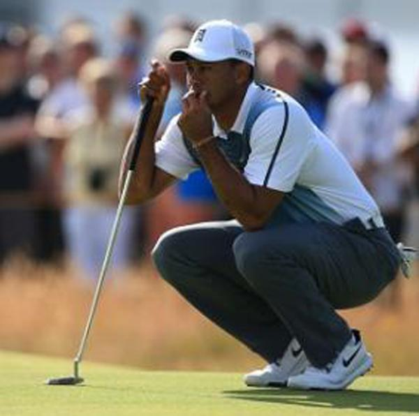 Tiger Woods got his first round of the 143rd Open Championship under way with a bogey.
