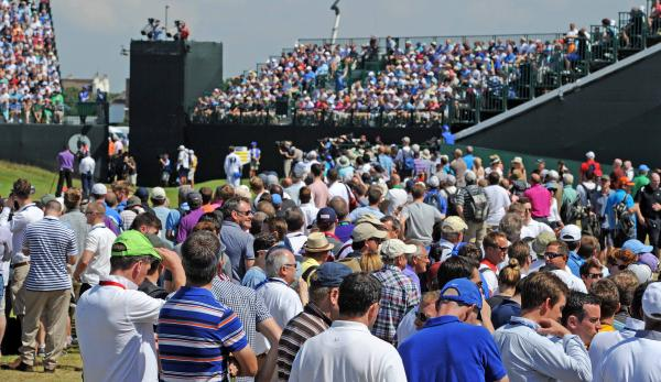 Crowds come out in their thousands for day one of the Open