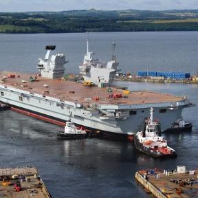 UK'S largest Warship floated for first time