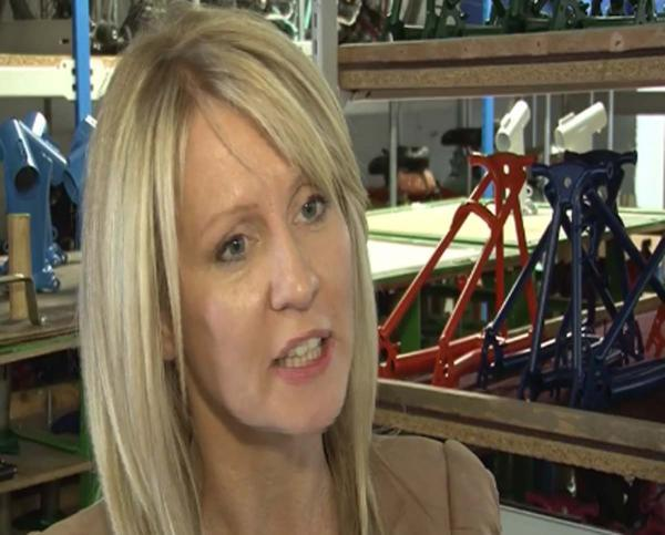 Employmernt Minister Esther McVey visitied Brompton Bicycles, a small growing business in Middlesex.