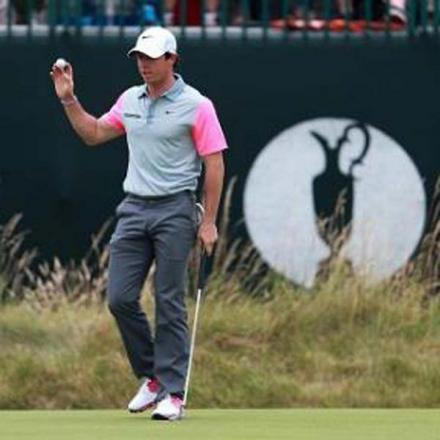 Rory McIlroy started his final round with a birdie. Picture courtesy of Press Association.