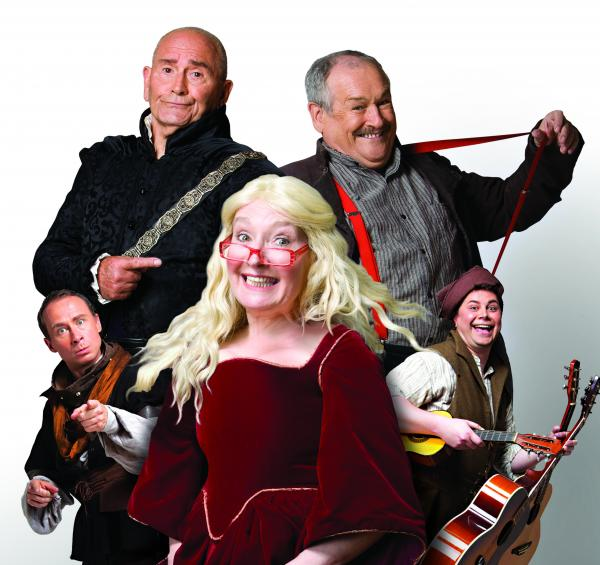 Su Pollard, Cannon & Ball and fellow cast members in promotional picture for Ha Ha Hood!