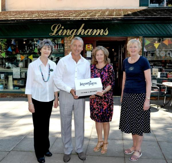 Linghams childrens depart manager Gill, Graeme and Fiona Fraser-Bell and Lingham's co-owner Eleanor Davies